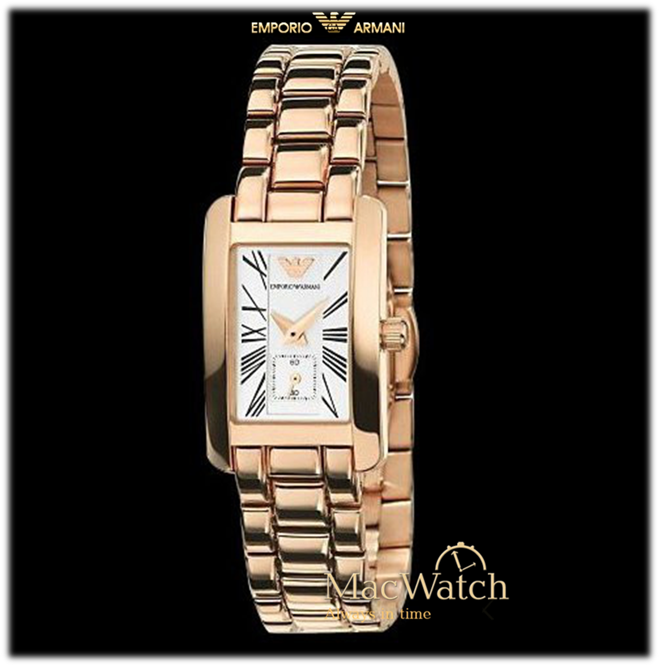 emporio armani damen uhr ar0174 rose gold macwatch. Black Bedroom Furniture Sets. Home Design Ideas