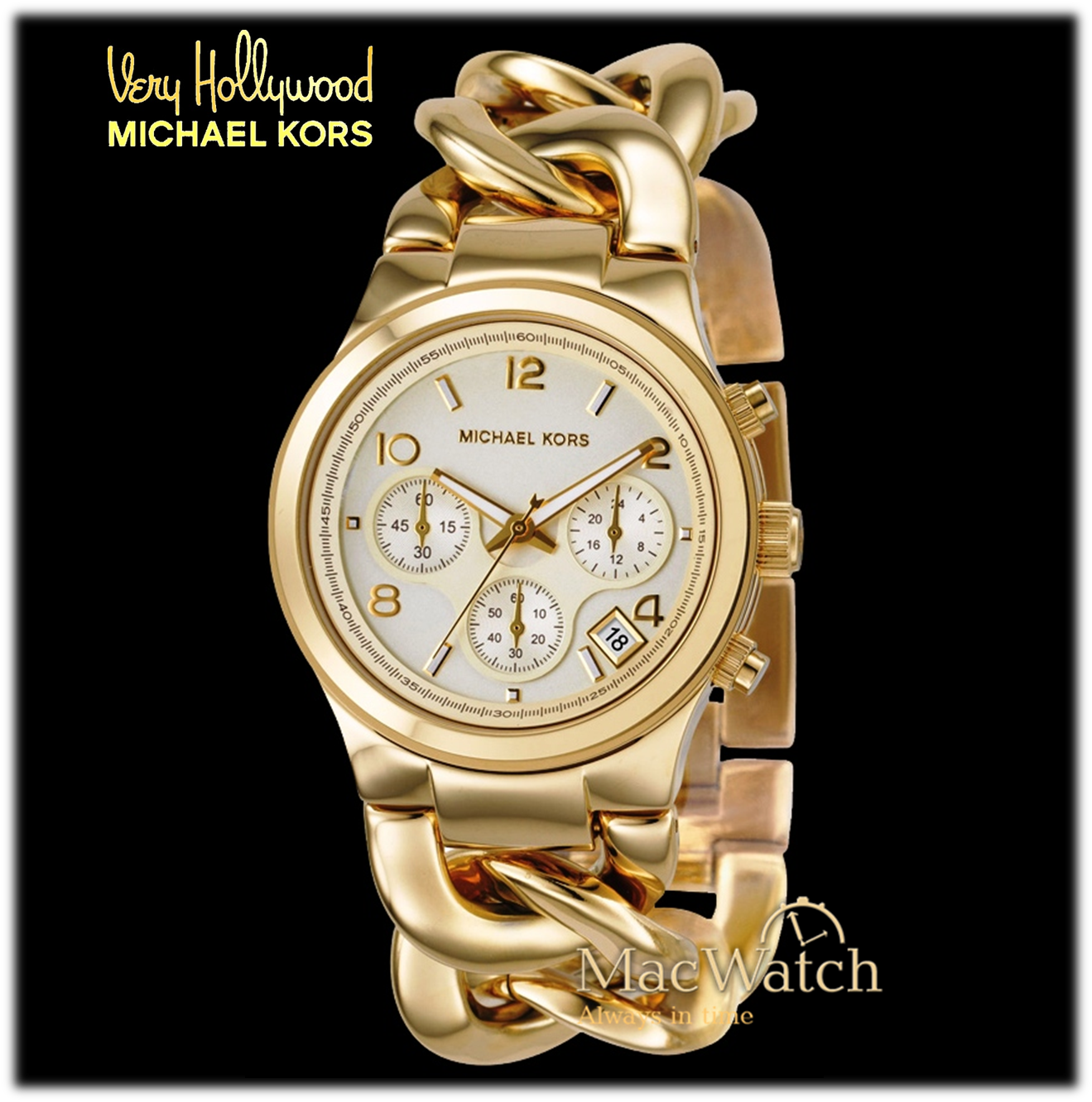 michael kors damen uhr mk3131 gold macwatch. Black Bedroom Furniture Sets. Home Design Ideas