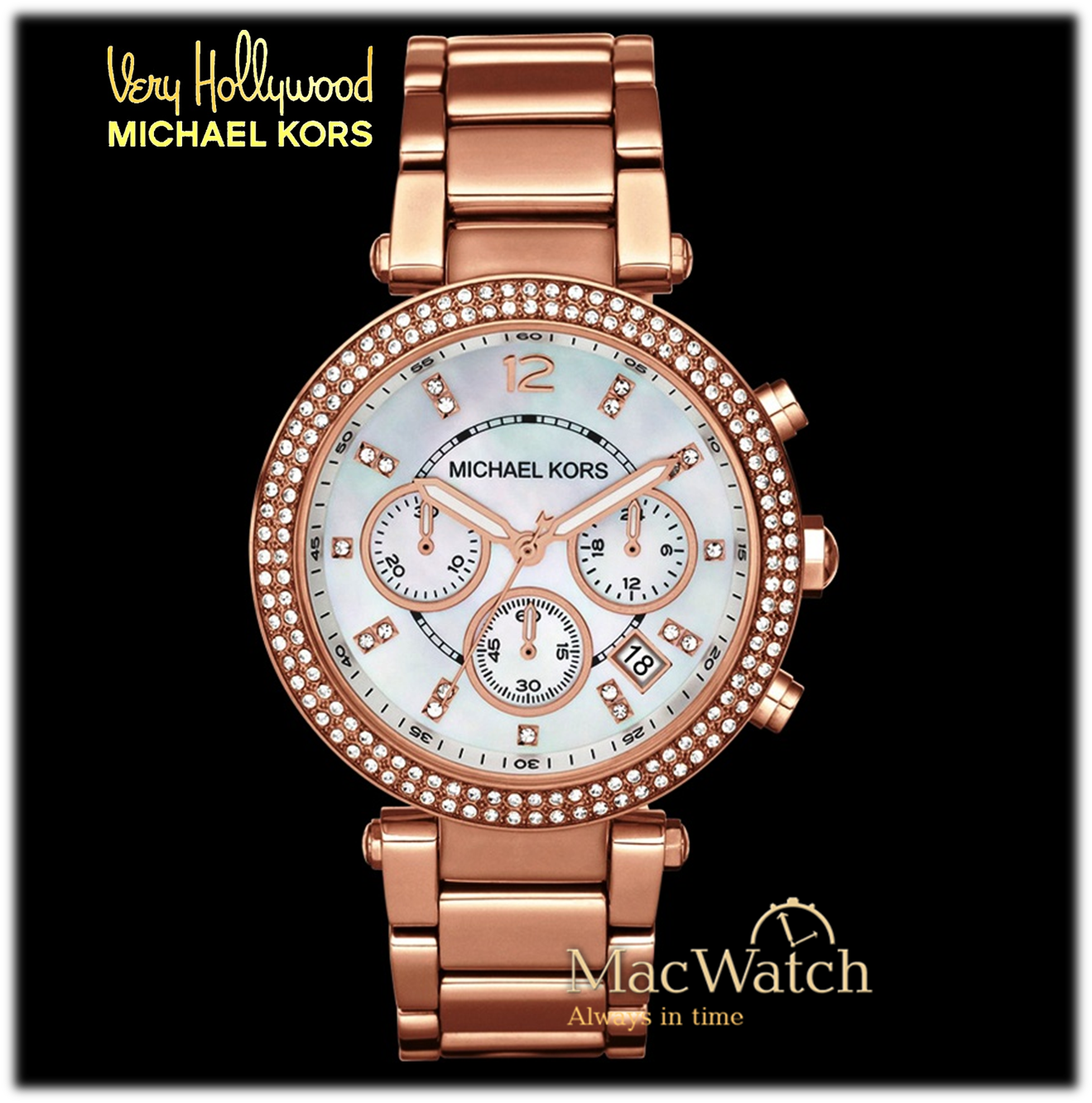 michael kors mk5491 rose gold damenuhr macwatch. Black Bedroom Furniture Sets. Home Design Ideas